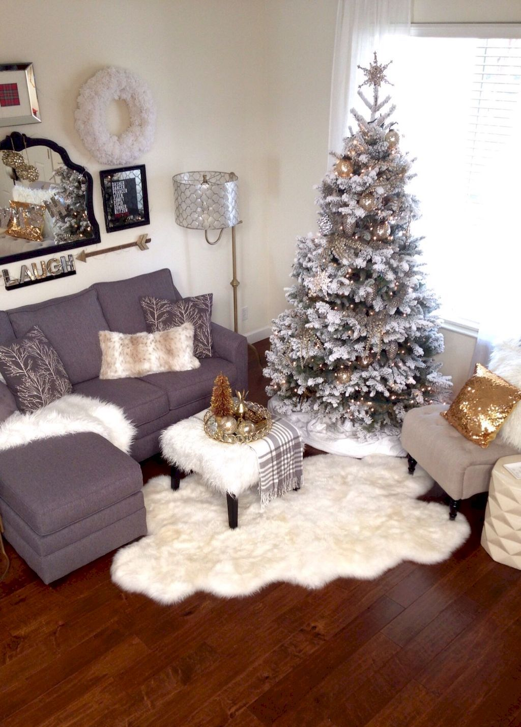 Christmas Living Room Decor Decorations Apartment Small Es