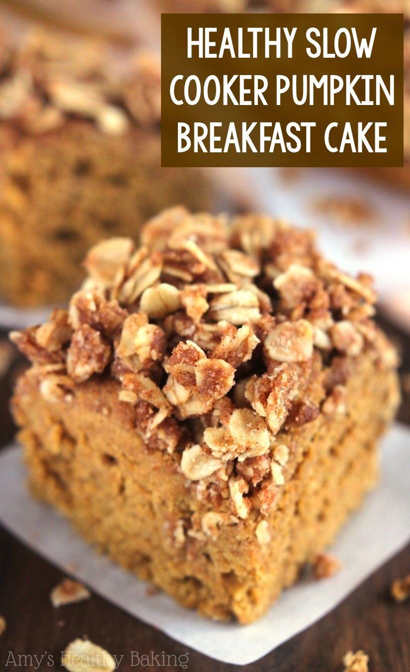 Healthy Pumpkin Streusel Breakfast Coffee Cake made in