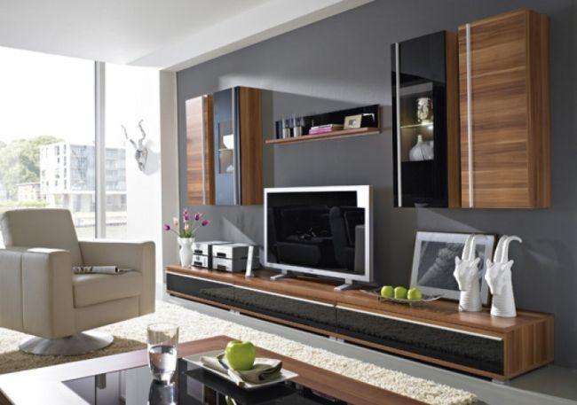 Freestyle nappali bútor, sötét dió és fekete színekben ...