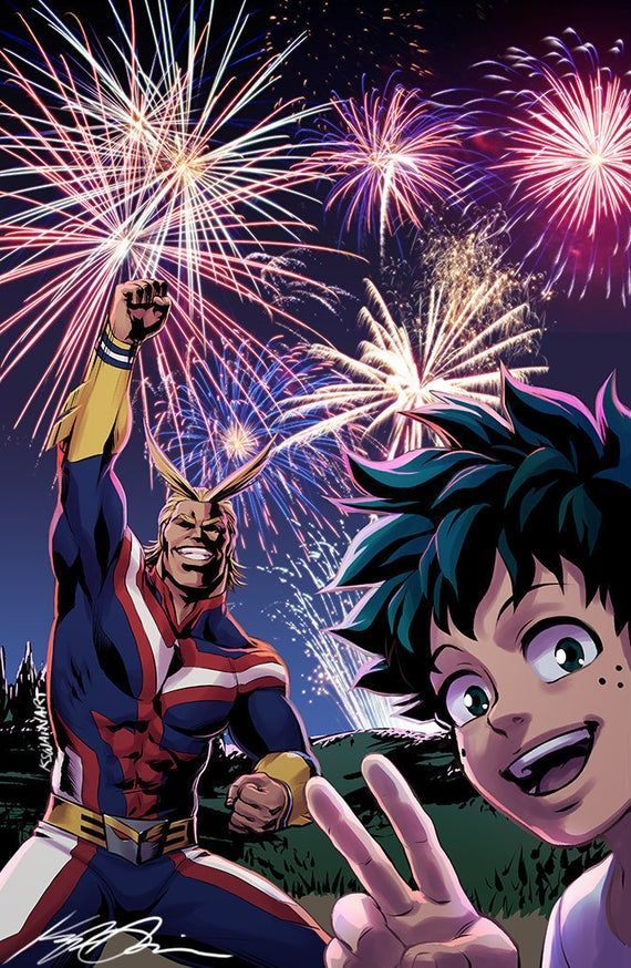 Photo of All Might & Deku 11×17″ or 5×7″ Fanart Print/Poster