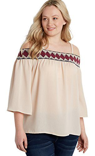 f0b0788f588 Maurices Womens Plus Size Smocked Cold Shoulder Peasant Top 1 Off White     Check this awesome product by going to the link at the image.