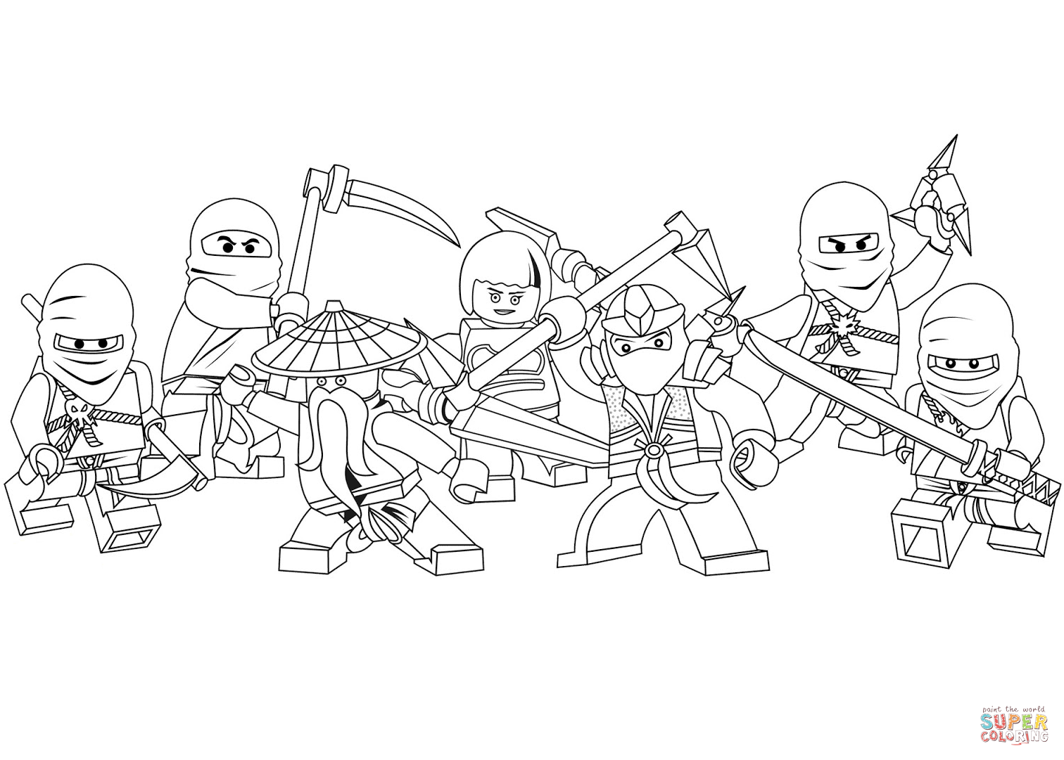 The Lego Ninjago Movie Coloring Pages Cast Koko And Sets