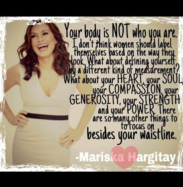 Mariska Hargitay Absolute Favorite Words Quotes Body