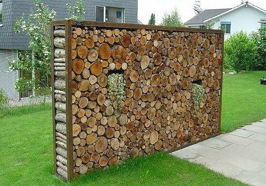 Bildergebnis für steinmauer sichtschutz Garten Pinterest
