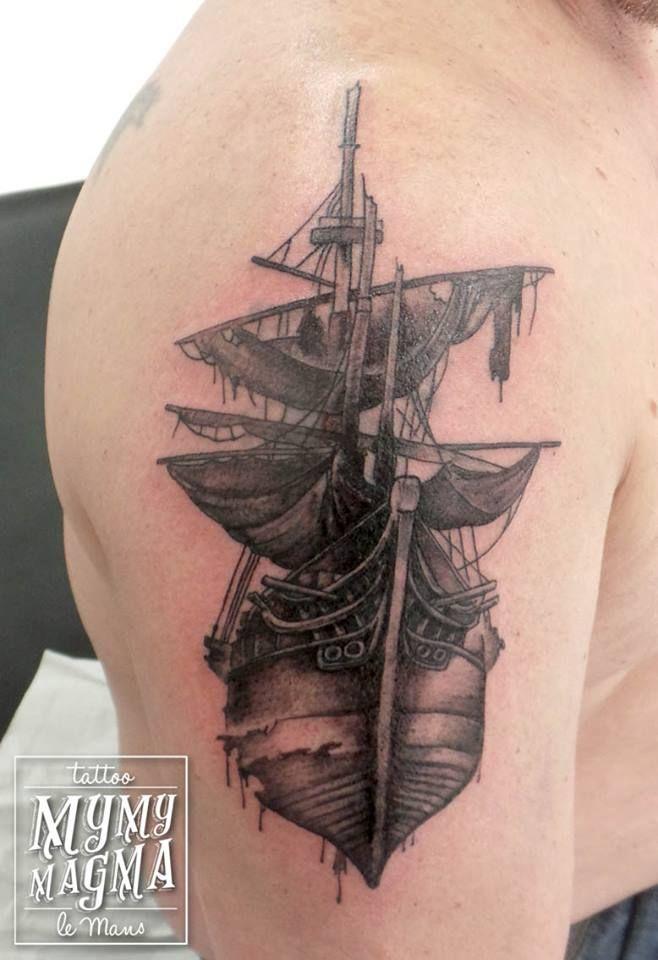 Tatouage Bateau Pirate Fantome Mymymagma Tattoo Tatouagelemans