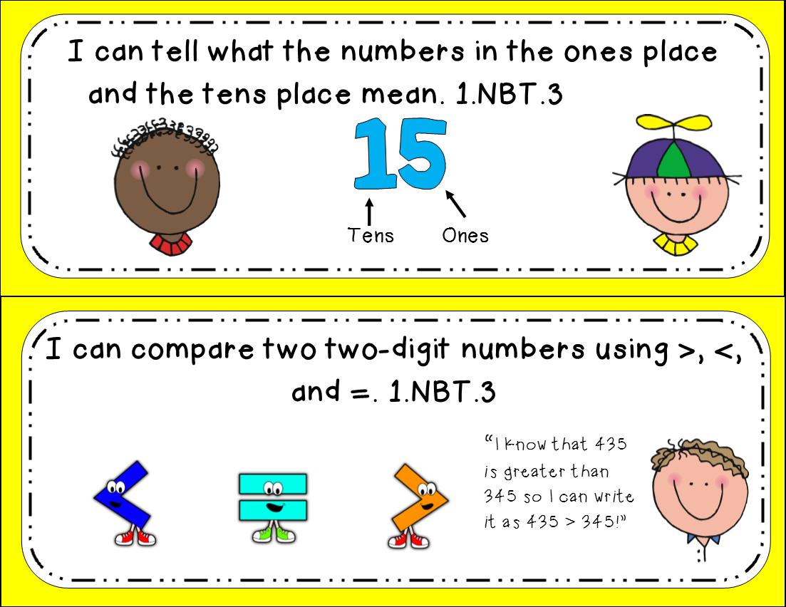 1st Grade Nbt 3 Greater Than And Less Than Math Tasks