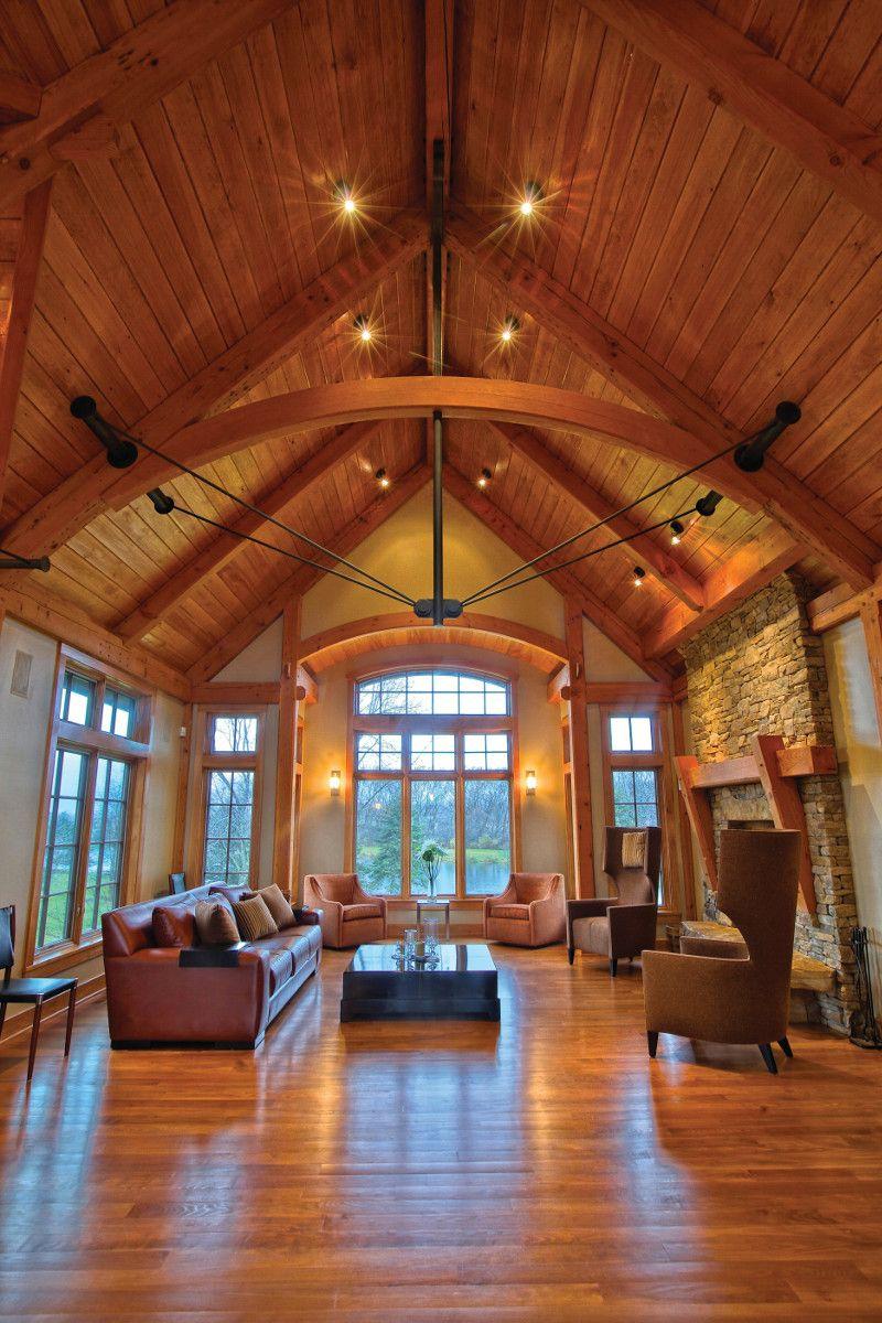 Compact Hybrid Timber Frame Home Design Photos Timber Home Living: Timber Frame Timber Frame Home Interiors