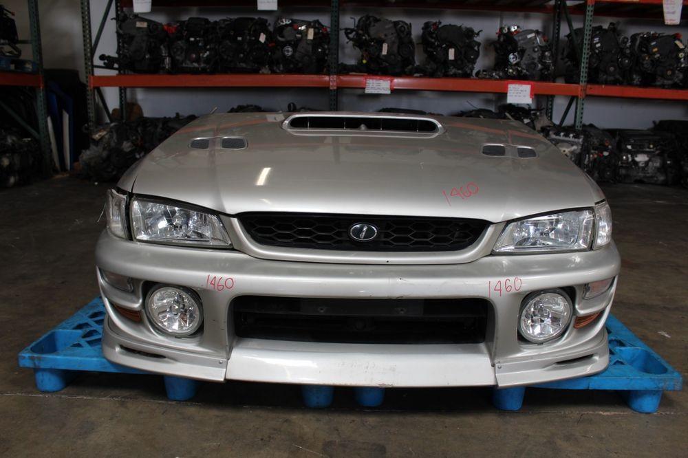 jdm subaru impreza wrx gf8 wagon front end nose cut w fog lights rh pinterest com