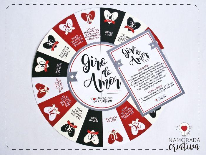 Diy Valentine S Day Jogo Giro Do Amor Jogos Para Namorados