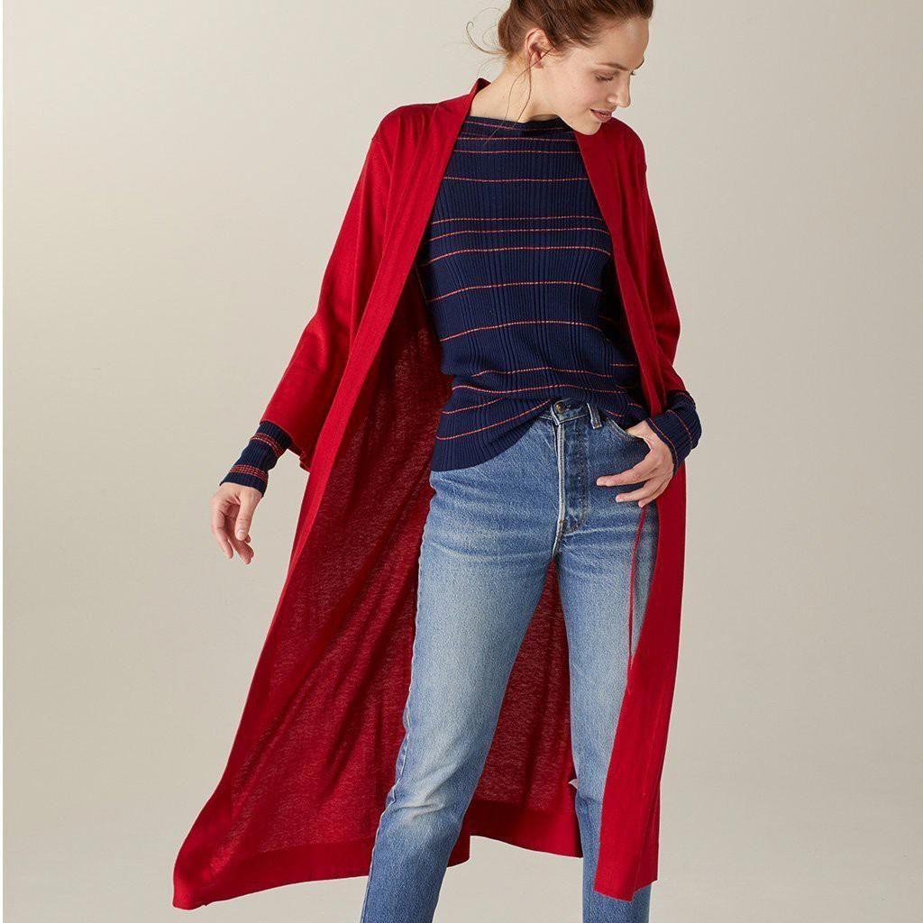 bf04ad5398c8 Naadam Khimori Silk Cashmere Travel Robe Red - L Xl