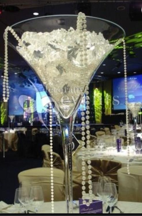 diamonds and pearls theme minus the giant martini glass