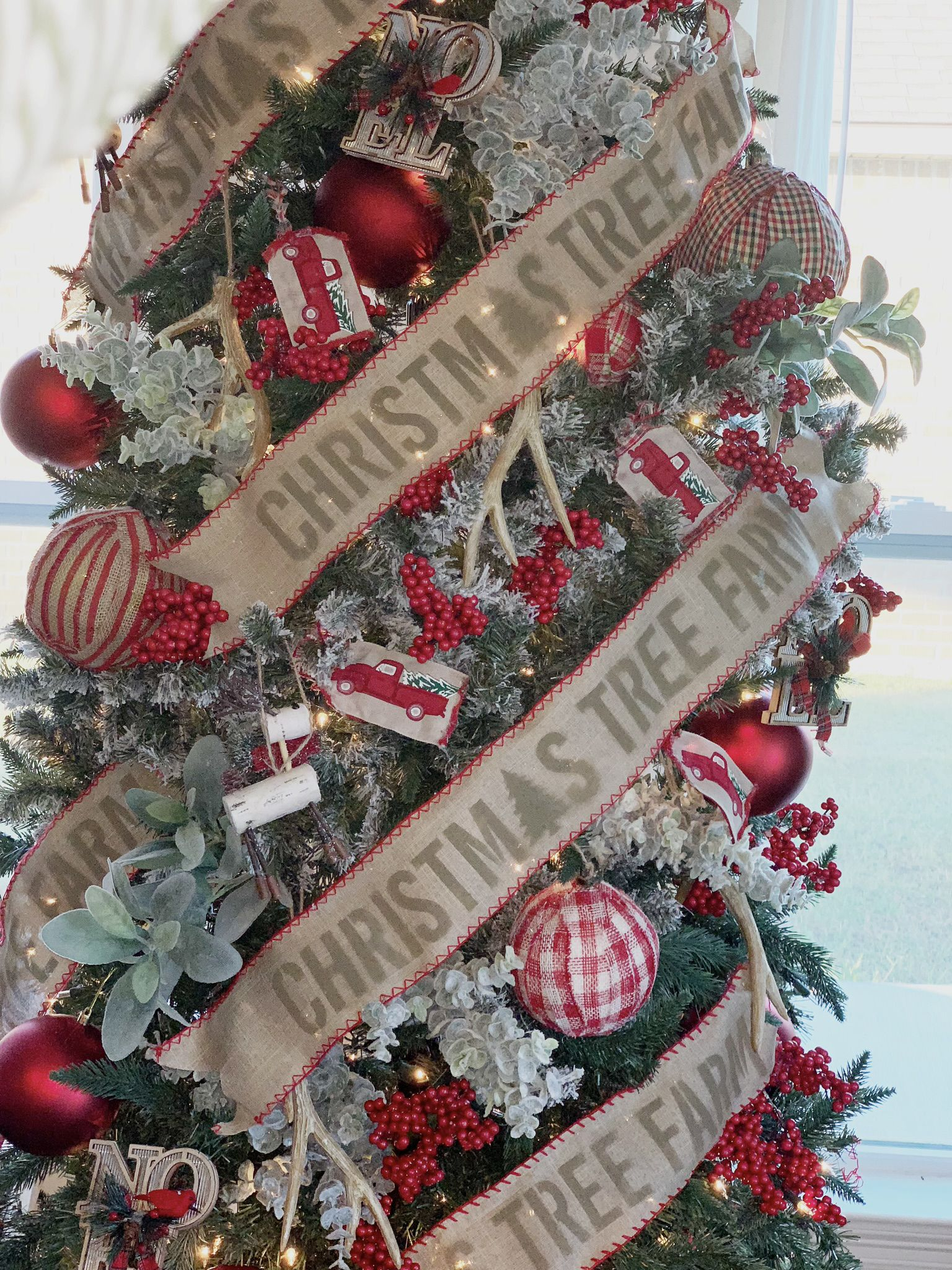 Burlap Christmas Tree Ribbon Burlap Wire Ribbon with