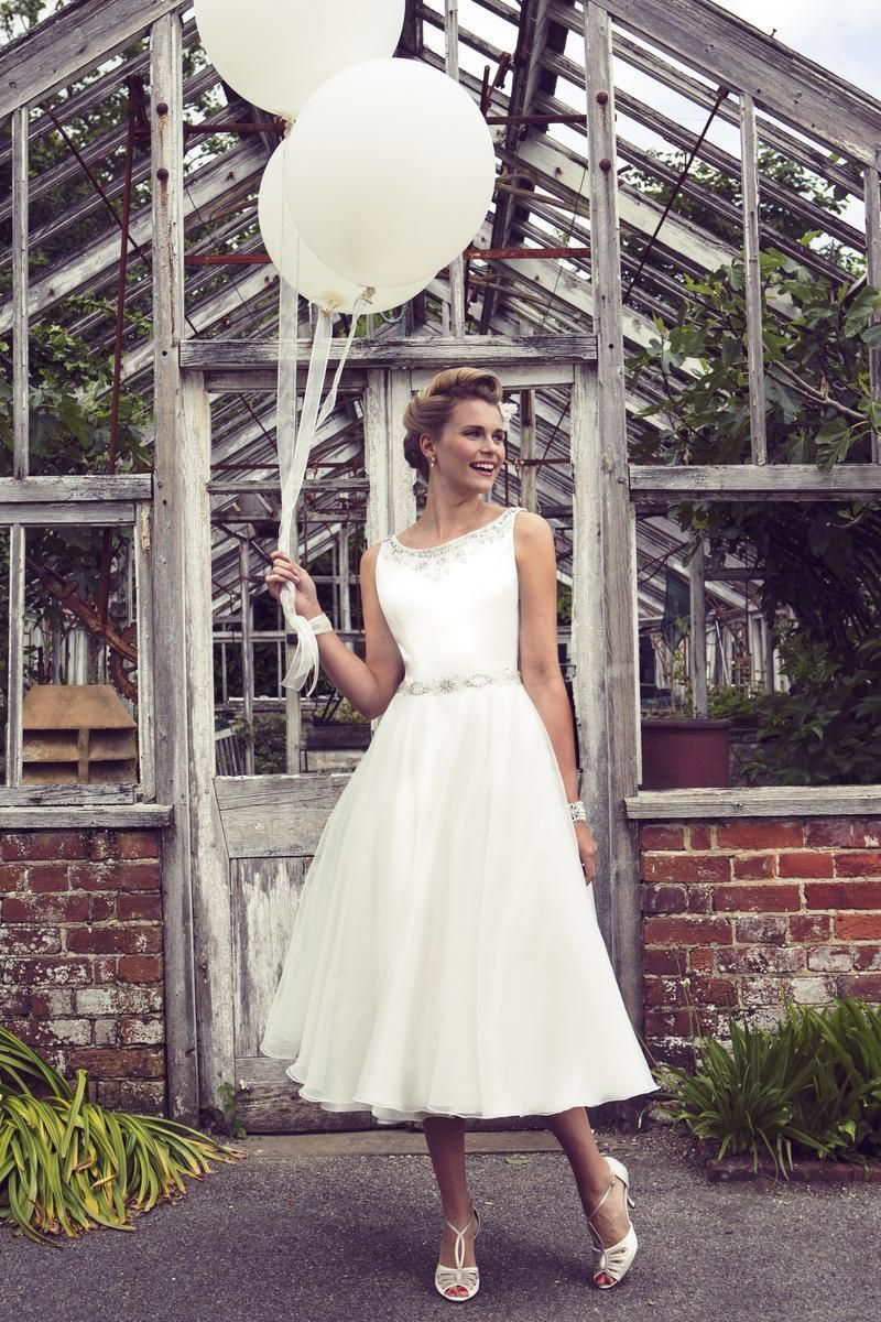 Vintage wedding tea dress  View our range of affordable tea length wedding dresses from