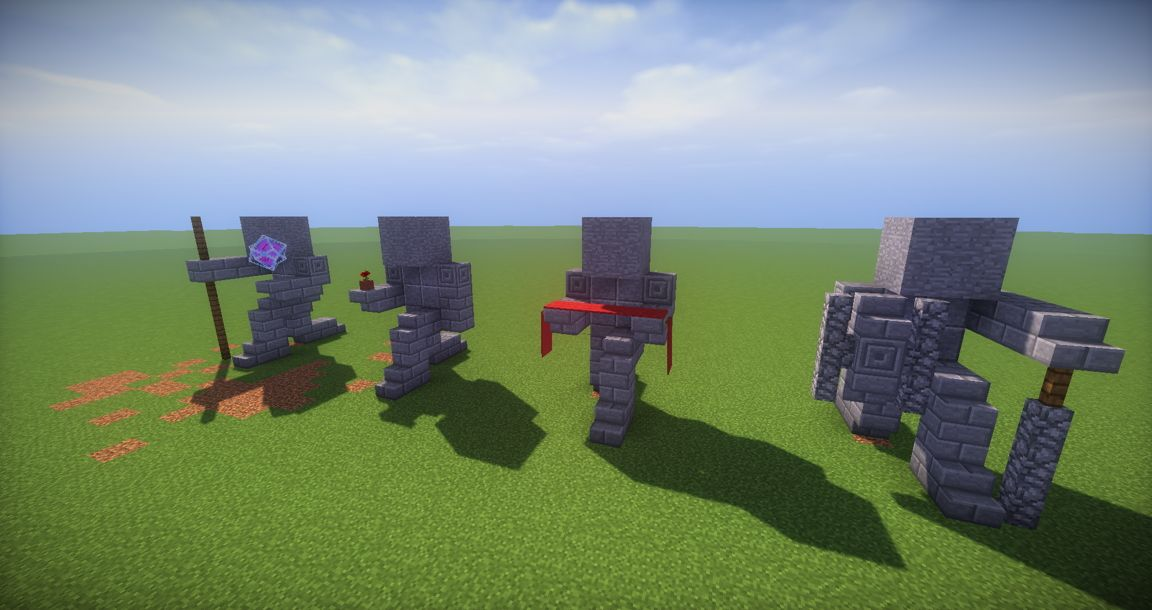 11 Small Kneeling Statues easy build for miencraft ideas