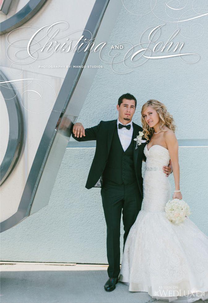 True Love, True Luxury: Christina & John | WedLuxe Magazine Gown ...