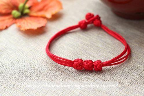 chinese knot bracelet tutorial01 bijoux pinterest. Black Bedroom Furniture Sets. Home Design Ideas