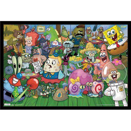 Spongebob - Characte Size: 24.25 inch x 35.75 inch, Black