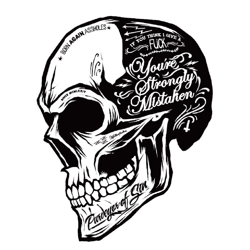 Black White Skull Cool Motorcycle Stickers Moto Decals Helmet - Cool custom motorcycle stickers