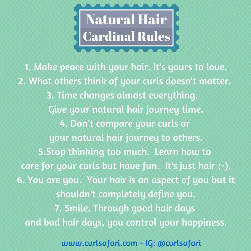 Natural Hair Cardinal Rules