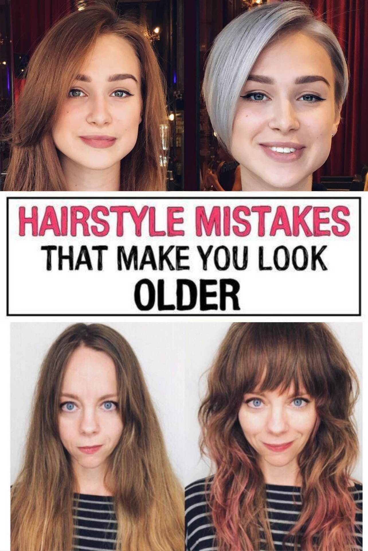 11 Hairstyle Mistakes That Are Aging You In 2020 Hair Advice Mom Hairstyles Hair Mistakes