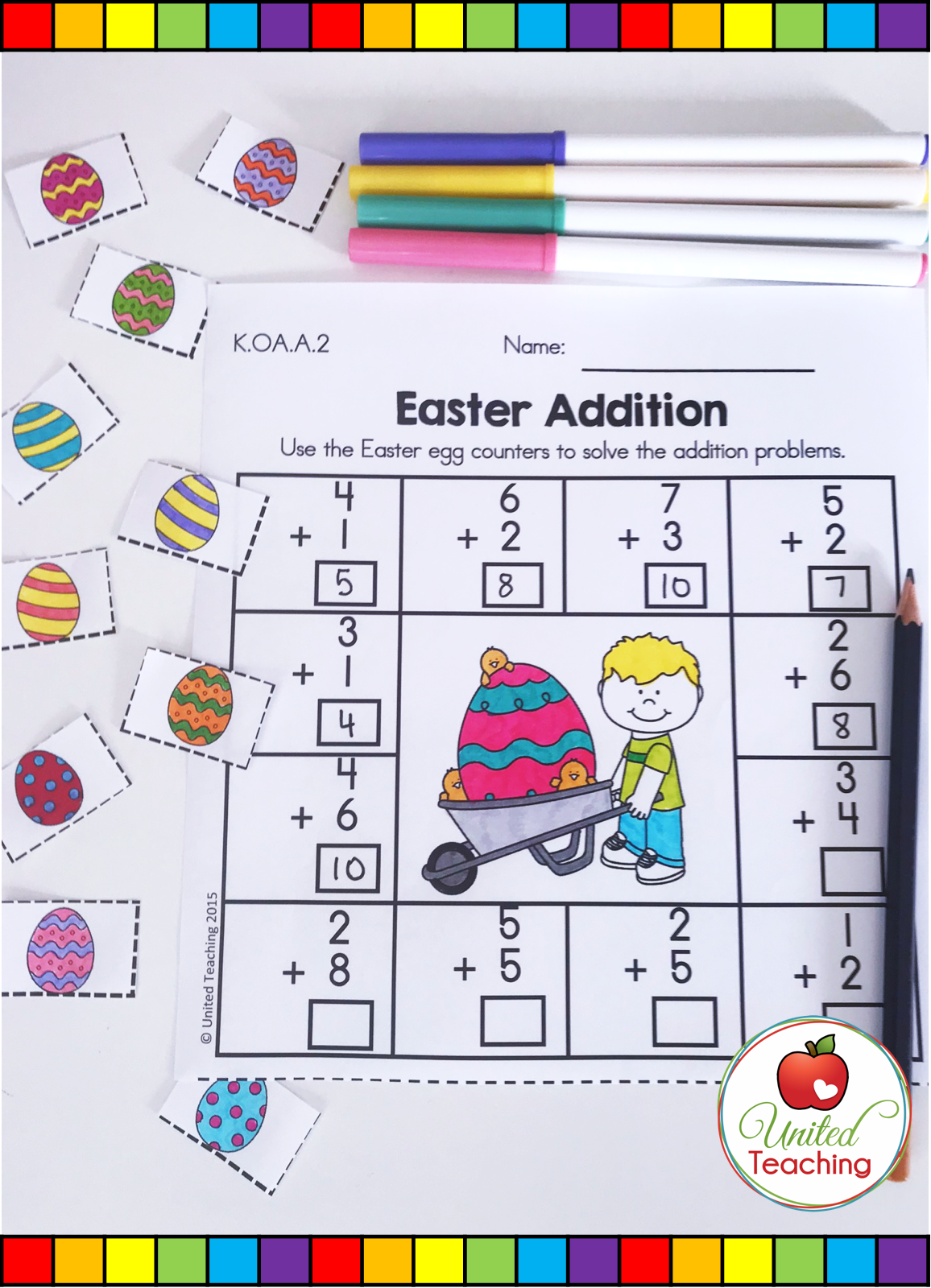 Easter Math Worksheets Kindergarten Distance Learning