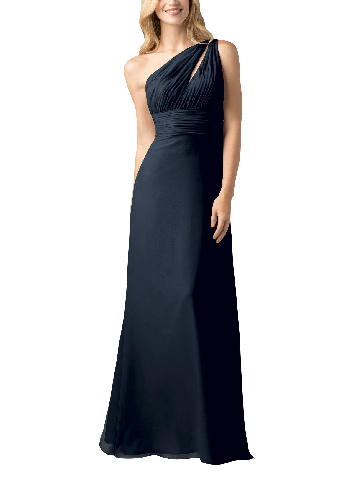 Wtoo by watters style navy bridal parties bridesmaid dress