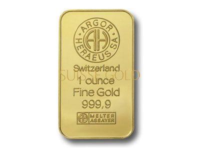 Argor Heraeus 1 Ounce Gold Bullion Bar 999 9 Fine Gold Bullion Bars Gold Bullion Coins Buy Gold And Silver