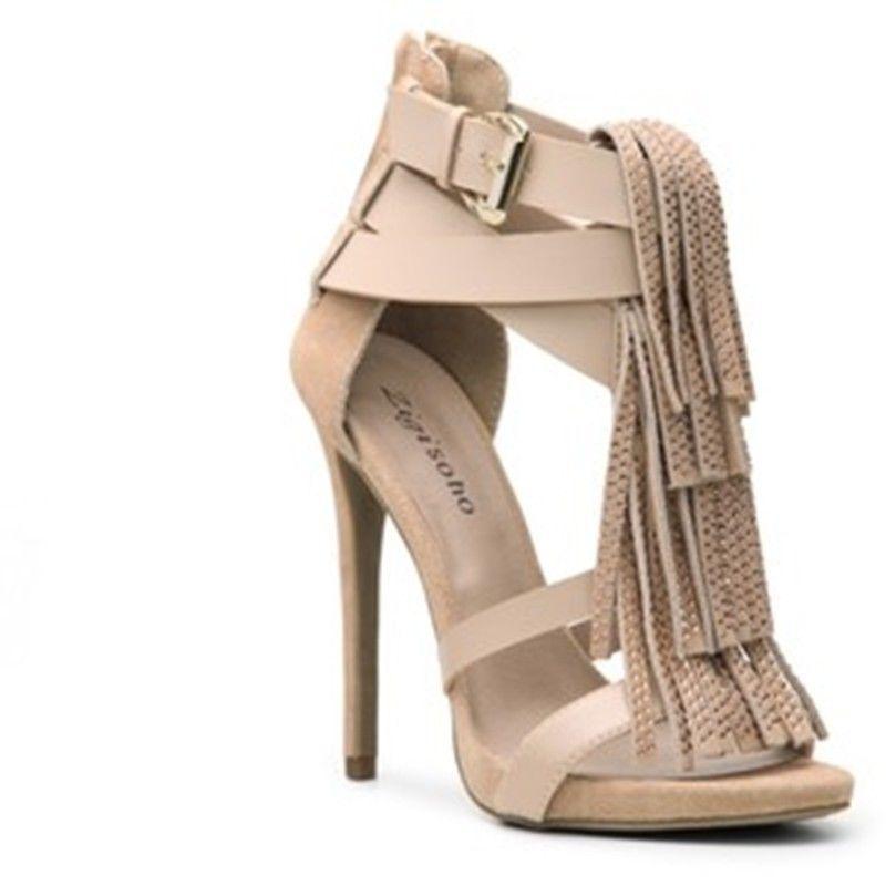 Zigi soho  Womens US Size 7.5 Sandals Glitter Bling Beige Shoes Heels NEW