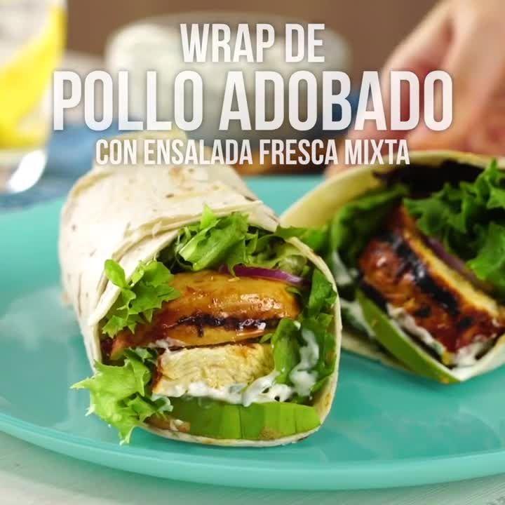 Wrap de Pollo Adobado con Ensalada Mixta