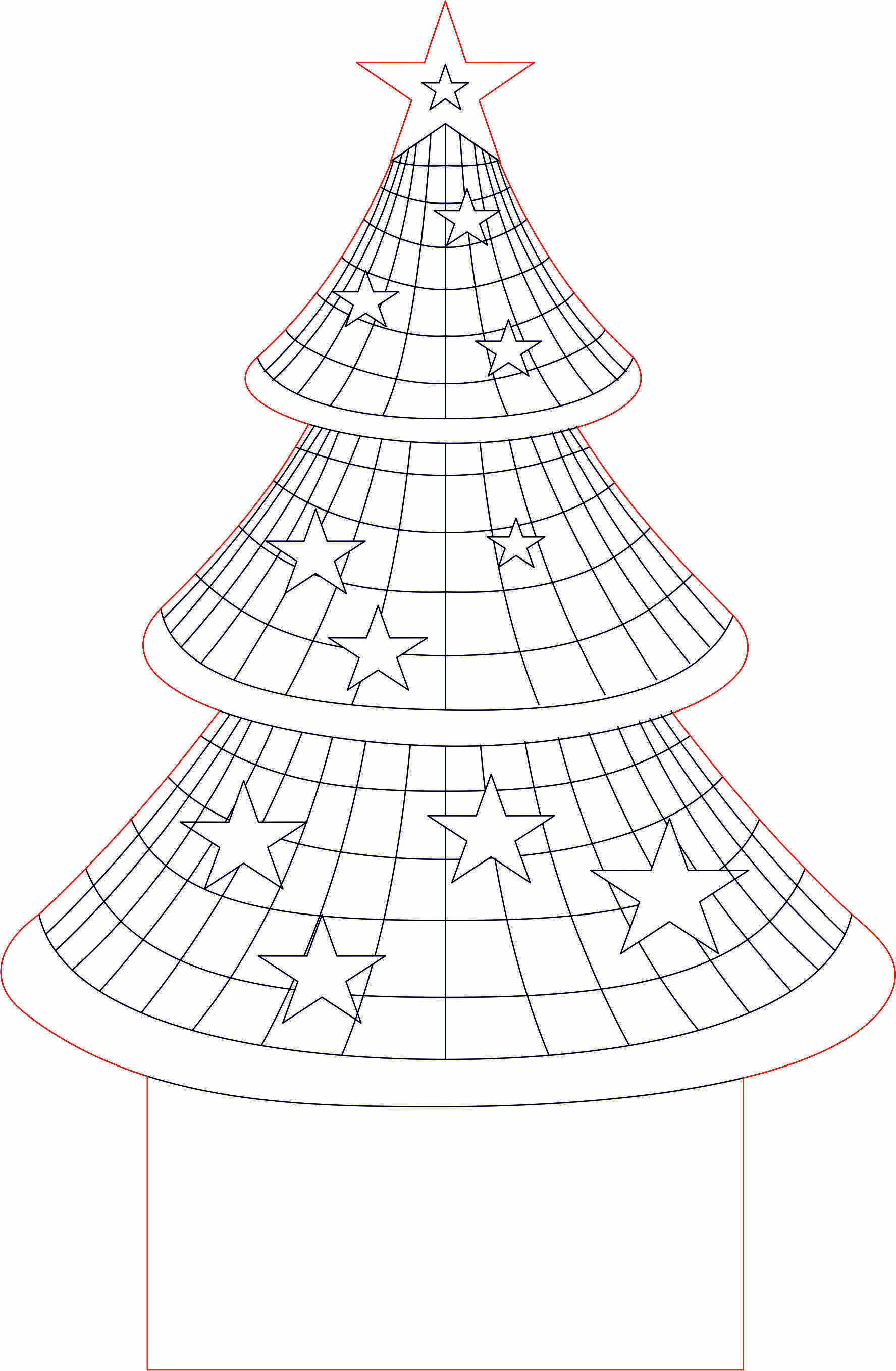 Christmas Tree 3d Illusion Led Lamp Vector File 3d Illusion Lamp 3d Illusions 3d Led Lamp