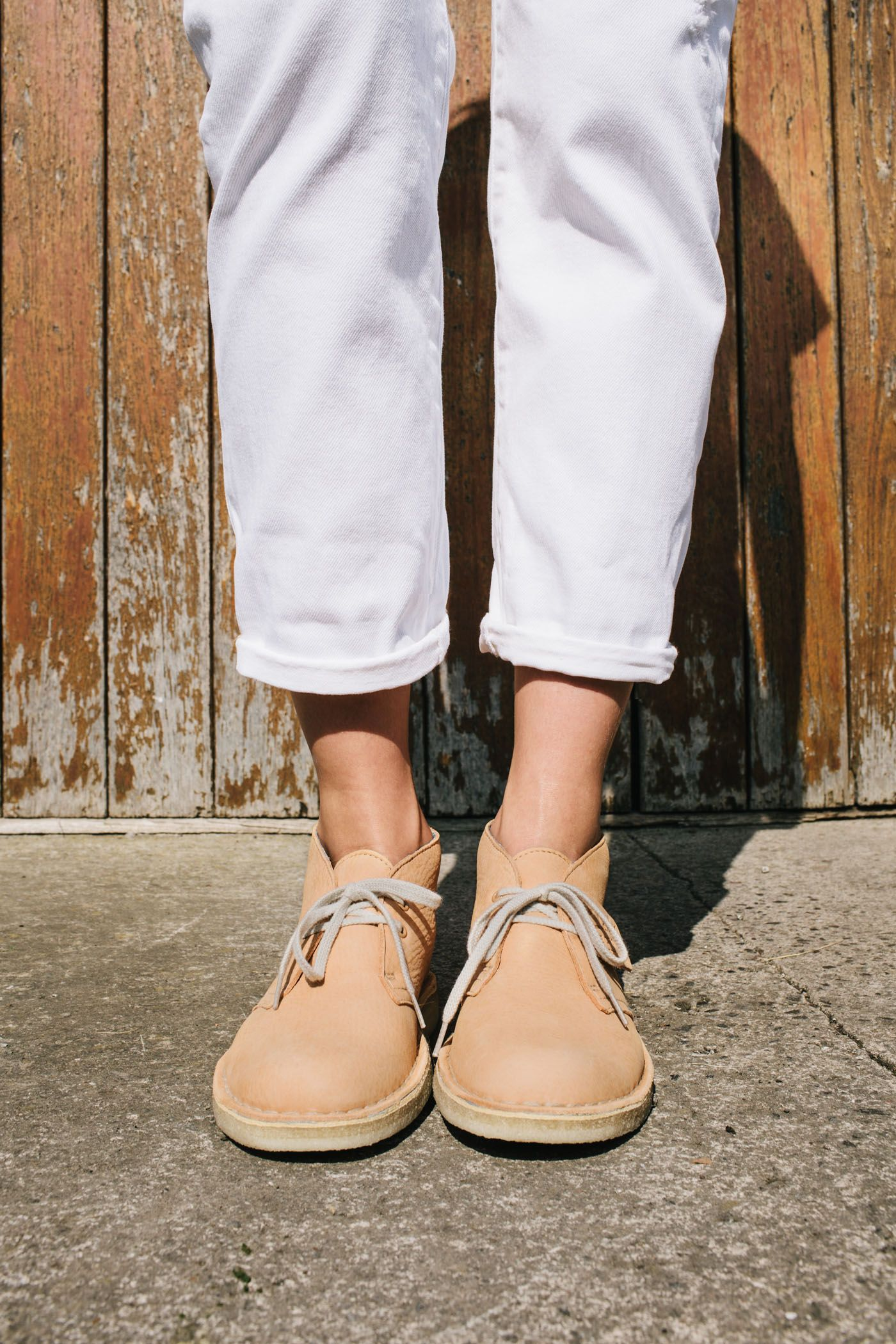 8bf31b94e998 Desert Boot in faded peach nubuck  ClarksOriginals  Womens  Clarks  ss15   Boots  Shoes