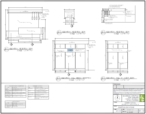 Millwork Shop Drawings  Freelance  Construction Details New Kitchen Design Drawings Inspiration