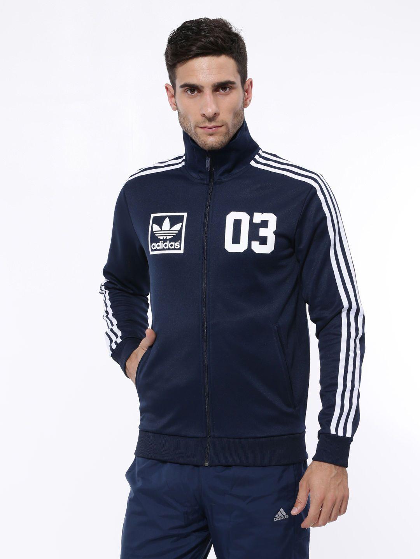 111cb5b0a5 Buy Adidas m30328 - Originals Men Navy 3foil Tt Jacket at best price in  India. Shop online for Adidas m30328 - Originals Men Navy 3foil Tt Jacket  from ...