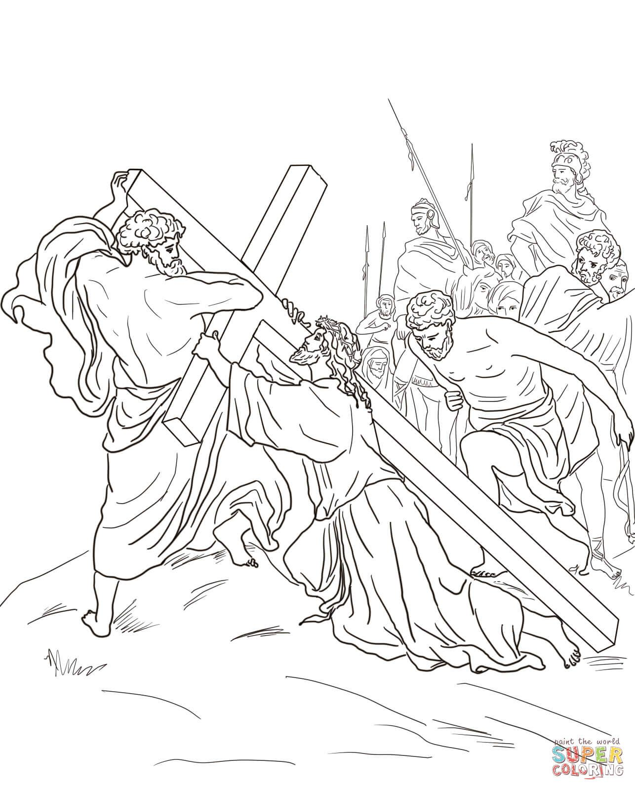 Fifth Station Jesus is Helped to Carry His Cross