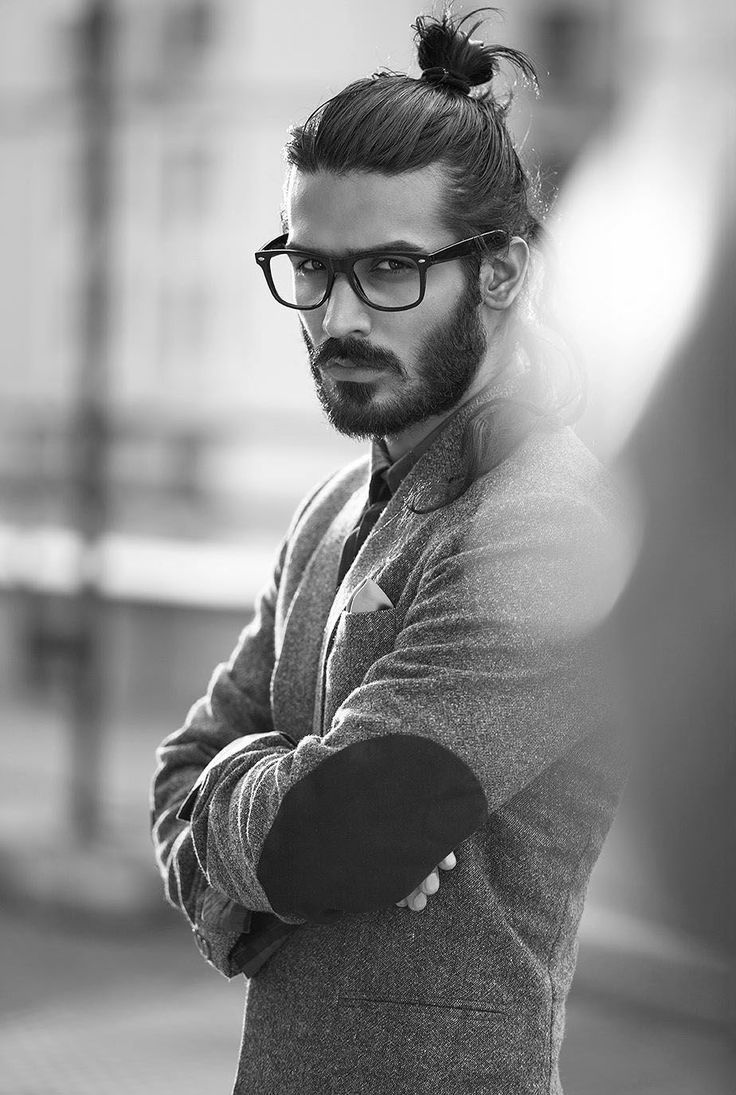 Mens Hairstyles With Glasses Hipster Man Bun Hairstyles With Glasses H I D A L G O