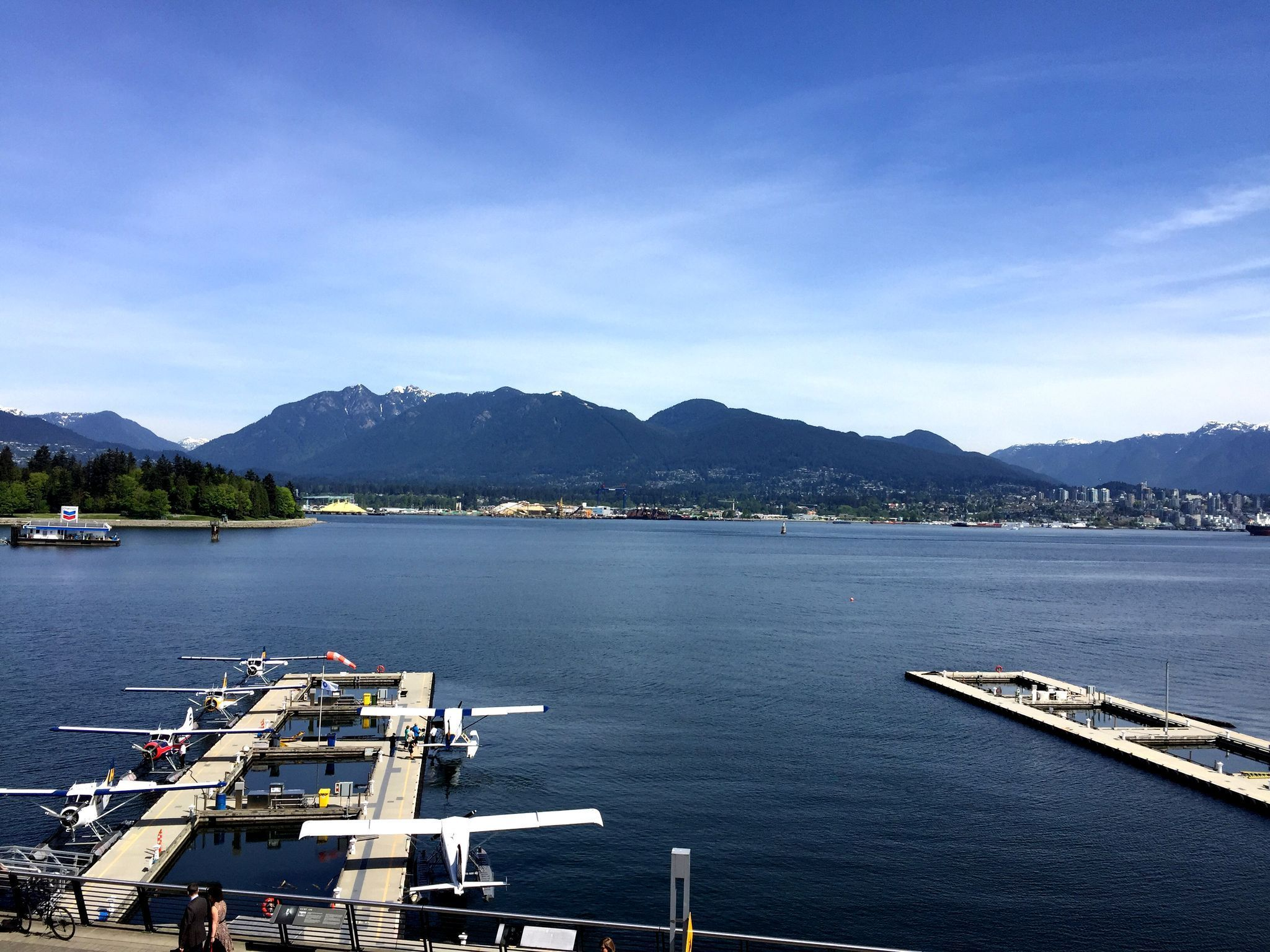 Nice View Of The Docks Near Canada Place In Vancouver Bc With