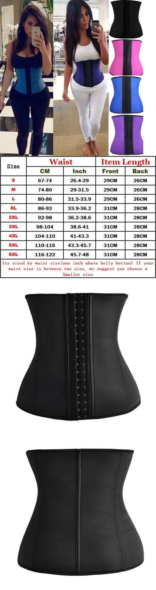 a28c24e2680 Latex Waist Trainer Zip Up Waist Training Corset Rubber Waist Cincher Gym  Shaper Women s Clothing
