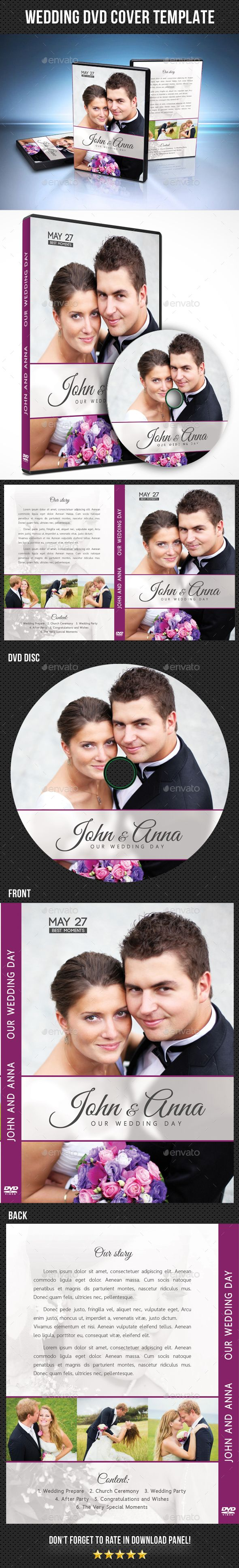 Wedding Dvd Cover Template   Cover Template Templates And
