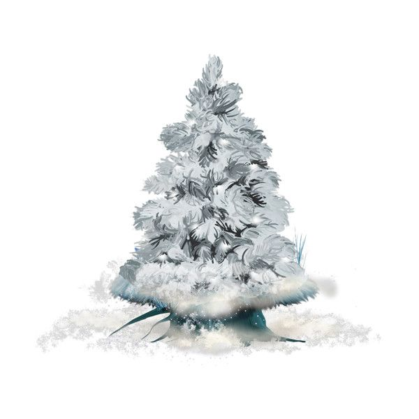 MRD SnowyDreams Icy Tree Snow Liked On Polyvore Featuring Winter Christmas