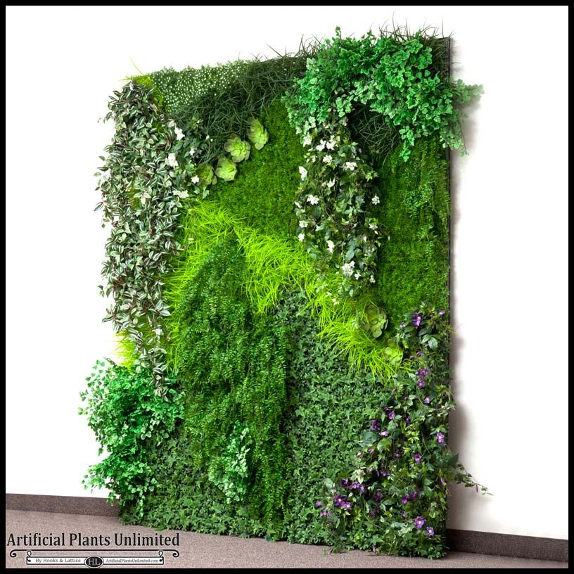 Etonnant Replica Indoor Artificial Living Wall 96in.L X 48in.H
