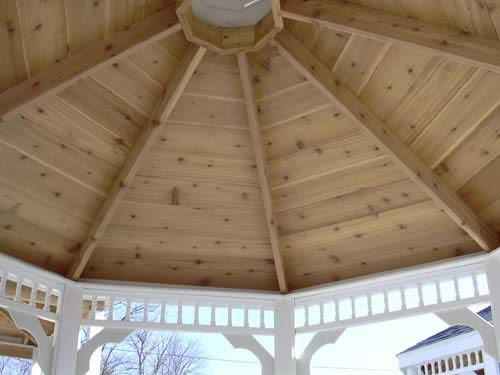 Gazebo Roof Structure Inside View Of Vinyl Gazebo Roof Roof Is Western Red Cedar Gazebo Roof Roof Structure Classic House Design