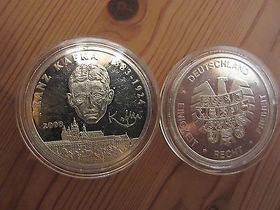 Gedenkprägung Zu Den 10 Euro Münzen Franz Kafka 2008 Pp