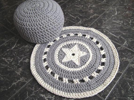 decke mit stern crochet pinterest h keln teppich h keln und stricken. Black Bedroom Furniture Sets. Home Design Ideas