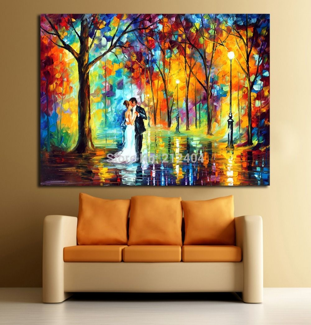 Wedding Dance In The Forest Abstract Oil Canvas Wall
