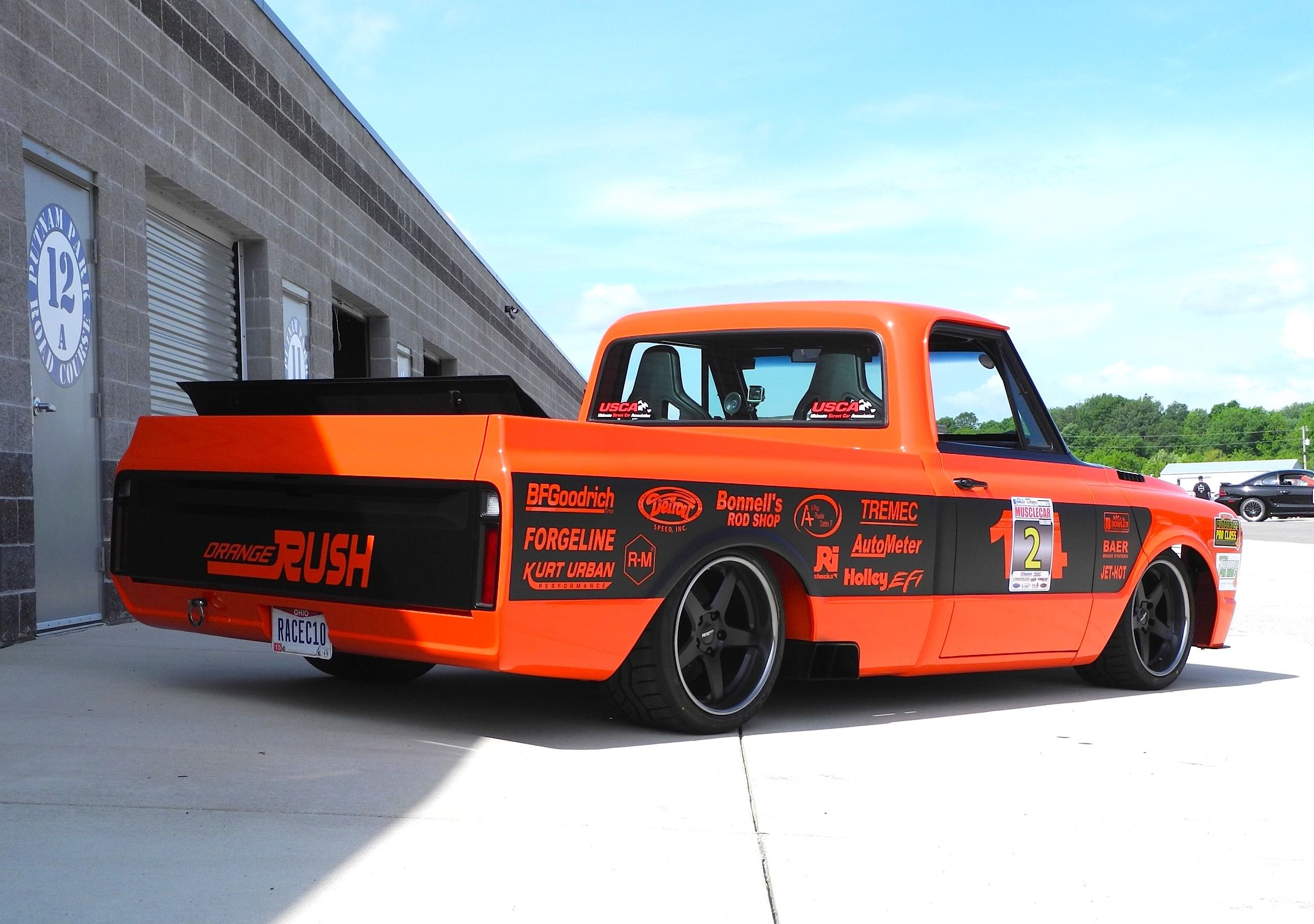 Bob bertelsen s orange rush 69 chevy c 10 pickup features a 648hp