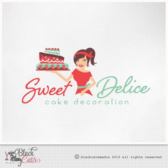 Cake decoration logo design eps file and watermark included etsy cake decoration logo design eps file and watermark included etsy banner avatar and matching business card custom premade affordable reheart Choice Image