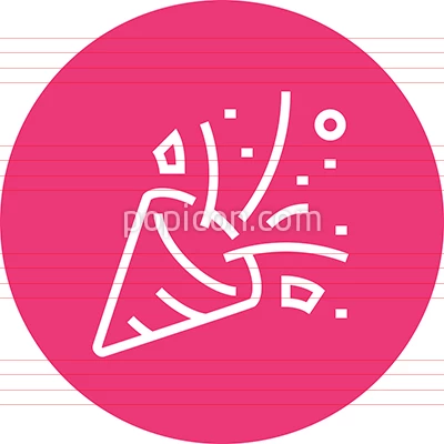 Party Popper Confetti Outline Icon Icon Party Icon Outline