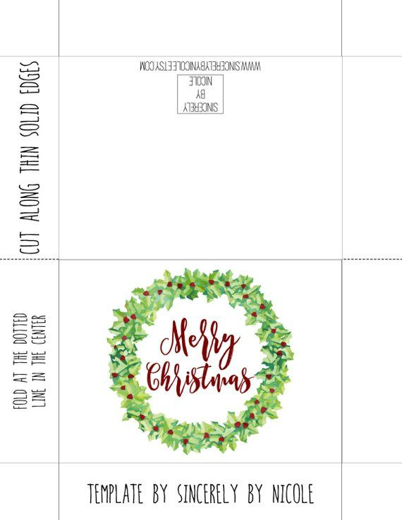 graphic about Happy Holidays Printable Card known as Merry Xmas Card, Printable Card, Printable Xmas
