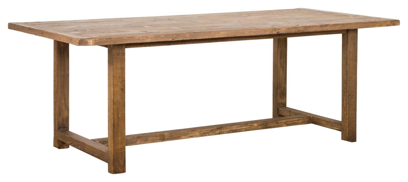 Landon Reclaimed Pine Dining Table Natural With Images Reclaimed Pine Dining Table Pine Dining Table Teak Dining Table