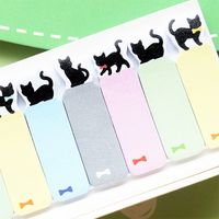 LUCKY BLACK CAT STICKY NOTES